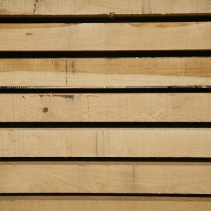 structural oak beams in stock in the woodyard