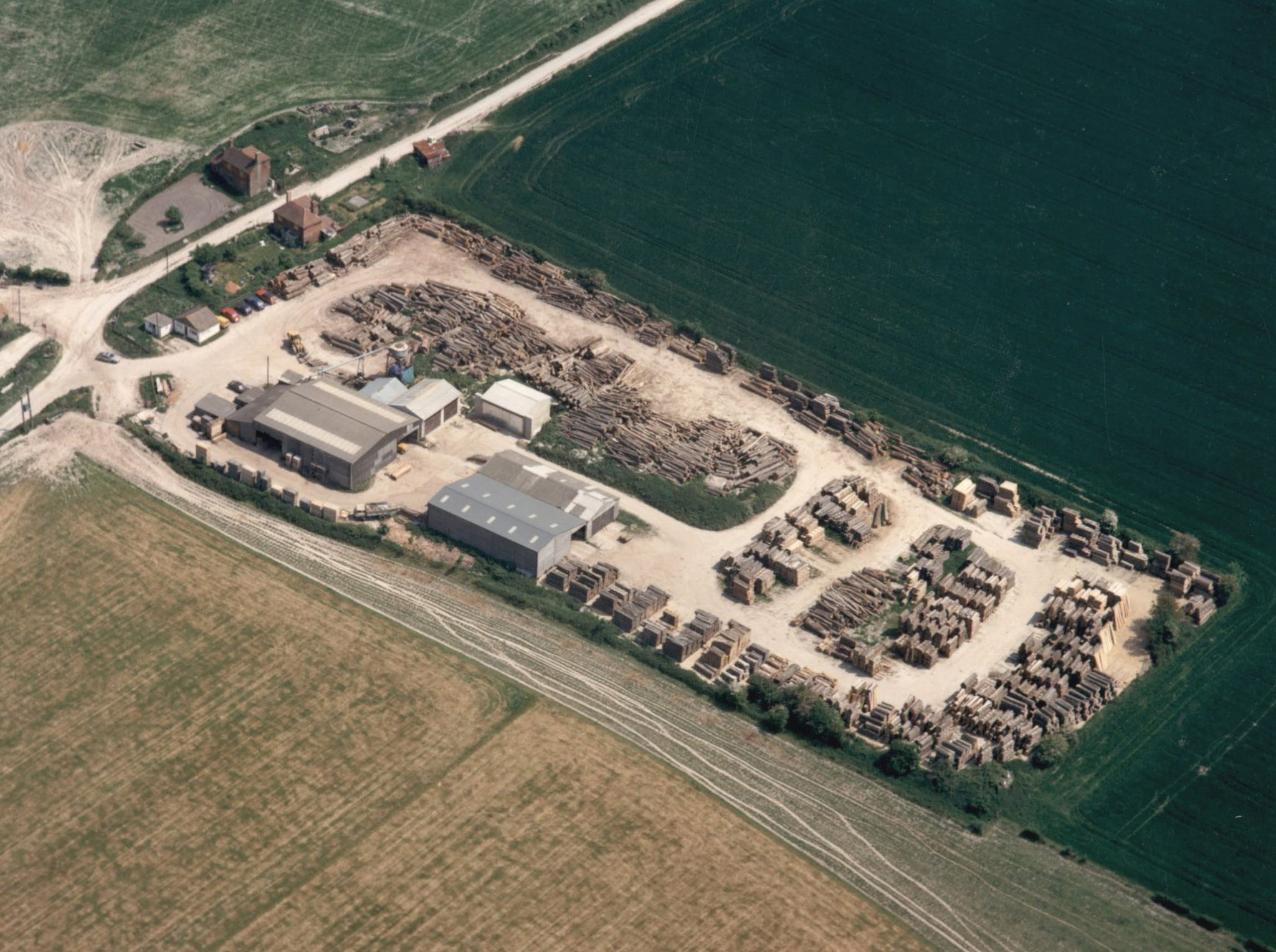 cocking sawmills just before the new office building was installed in the 1980's