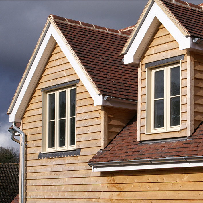 western red cedar featheredge cladding on Midhurst housing development