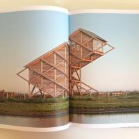 this incredible wood tower is wood architecture at it's finest