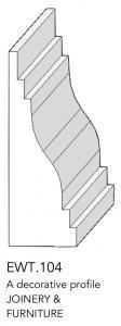 joinery and furniture profile and moulding EWT.104