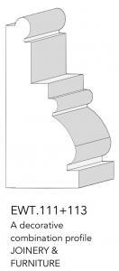 joinery and furniture profile and moulding EWT 111+113