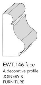 joinery and furniture profile and moulding EWT 146 face profile