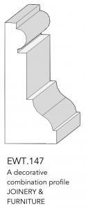 joinery and furniture profile and moulding EWT 147
