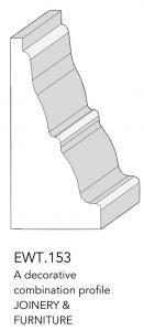 joinery and furniture profile and moulding EWT 153