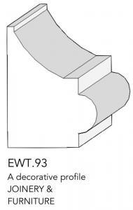 joinery and furniture profile and moulding EWT 93