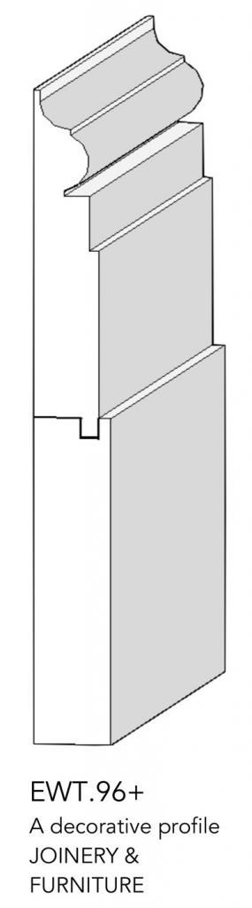 joinery and furniture profile and moulding EWT.96+