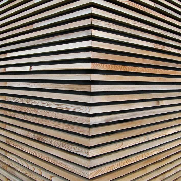 Wooden Cladding Detail ~ Larch in post and for lunch english woodlands timber