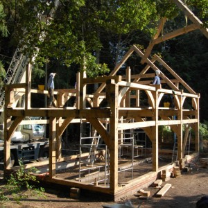 Downland Workshops fresh sawn oak frame