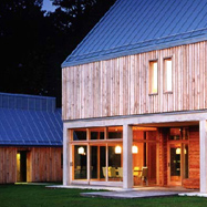 James Gorst Architecst Air Dried Oak cladding at Whithurst Park