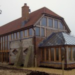 new england framing co oak framed house with conservatory