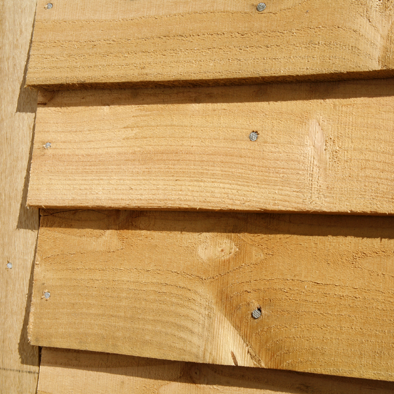 larch feather edge cladding