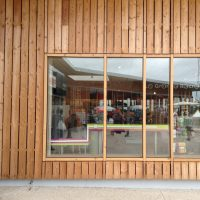fresh sawn rainscreen timber cladding in larch