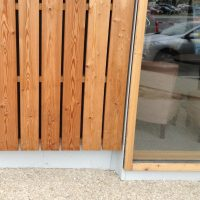 larch cladding detail in square edge fresh sawn supply