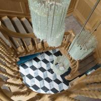 s-a-spooner-view-down-oak-staircase-withhand-turned-oak-ballustrade-and-oak-panelled-walls
