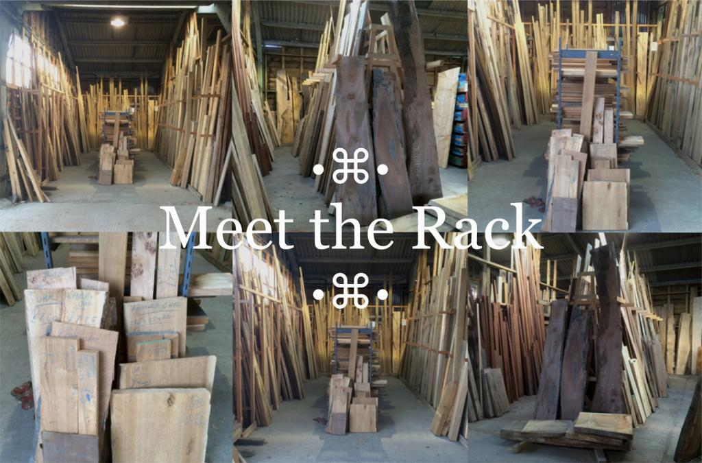 the timber rack at cocking sawmills wood yard