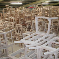 the furniture works frames waiting for the next stage