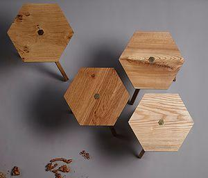 Ted Jefferis is Ted Wood and these are his beautiful stool sets