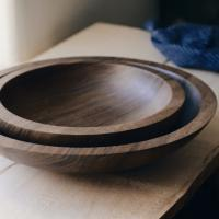 wooden & woven beautiful turned bowls