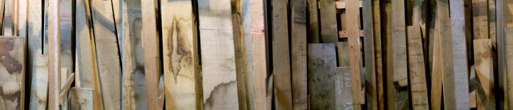 panorama of the timber rack square edge all measured and priced and sorted into timber species