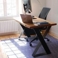 Sky High Design home office desk with waney edges