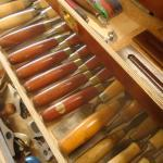 beautiful woodworking handtools at james pillier joinery workshop