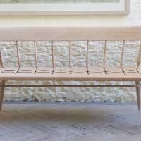 woven seat windsor bench by petrel furniture