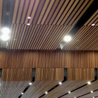 Interior cladding in the ticket hall of the new London Bridge Station by Grimshaw Architects
