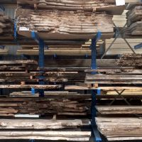 kiln dried waney edge boards in the woodshed