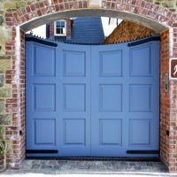 simpson joinery high panelled entrance gates