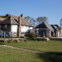 timber frame extension to country house by nocholls countryside construction