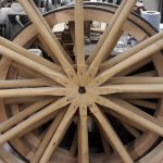WWI GS wagon wheels built by croford coachbuilders