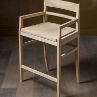 bespoke design by inglish hall for dinig chair in oak laines