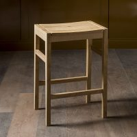 bespoke design for dining stool in oak by inglish hall laines