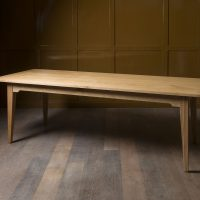 dining tabe in oak by inglish hall for a client laines