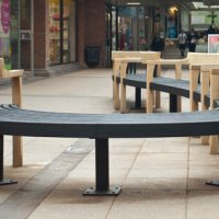 tudor arcade pubish space bench by simon thomas pirie