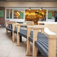 tudor arcade bench by simon thomas pirie