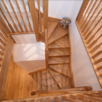 JLA Joinery wooden stairwell