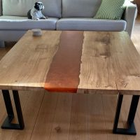 waney edge resin coffee table by Liam's woodworking