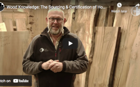tom talking about the sourcing of elm logs for milling