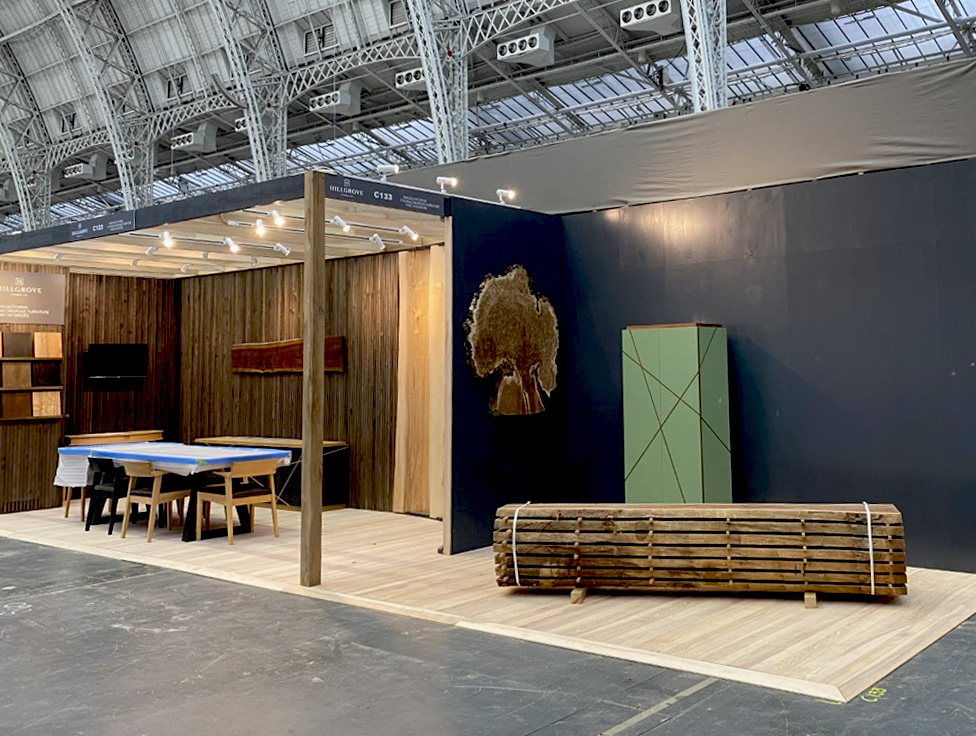 the finieshed decorex interior design show stand