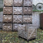 Mont D'Hor at St Thierry. Timber champagne bottle crates