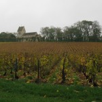 Mont D'Hor champagne house at St Thierry. Looking across the Veuve Cliquot vineyards to the chapel