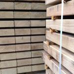 planed and radiused oak sleepers for greenwich wharf project
